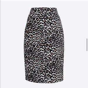 J Crew Factory Pencil Skirt Cotton Twill EUC Sz 4